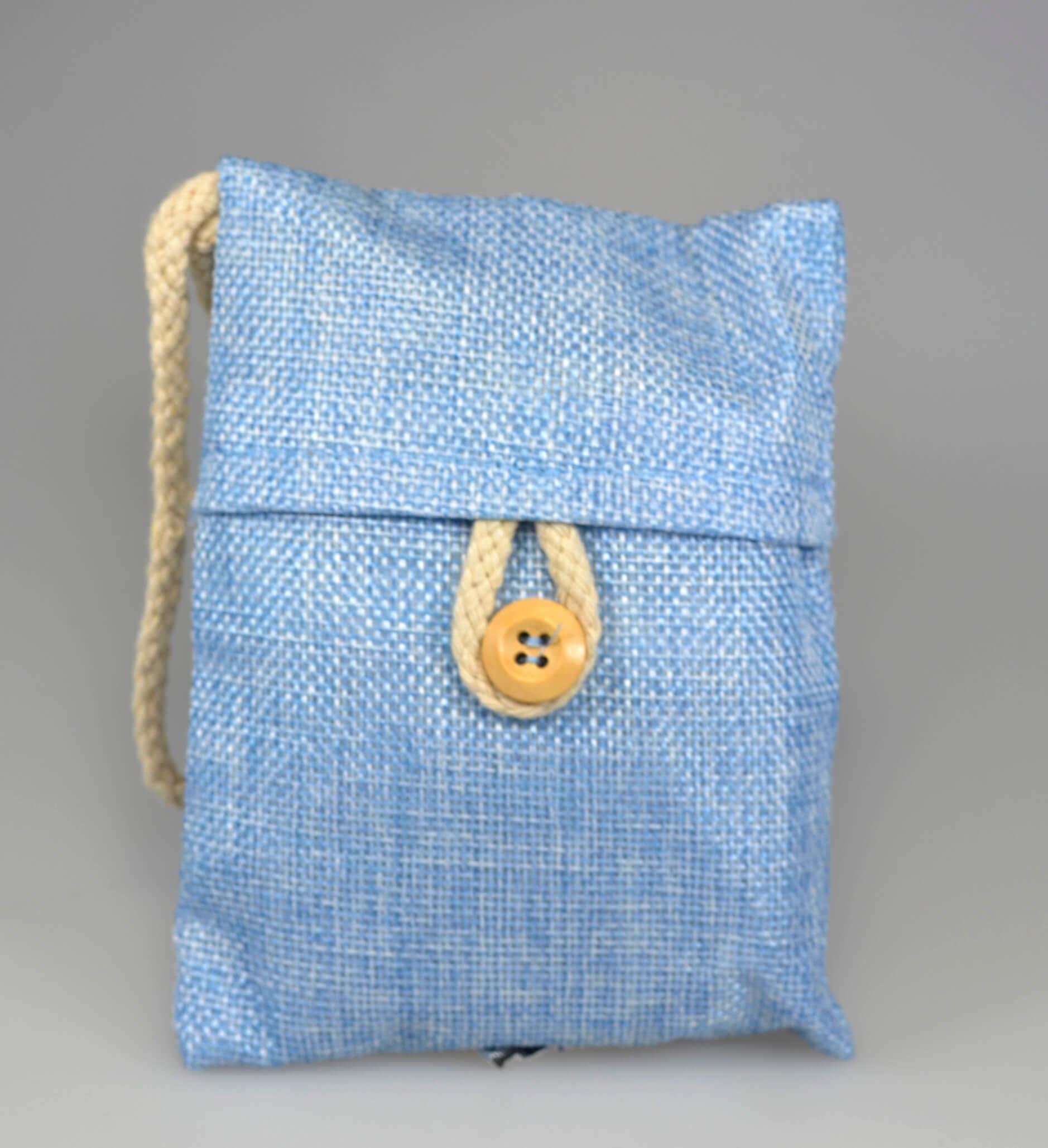 Sumi Pose med aktivt kul granulat fra japanske egetræ Himmelblå
